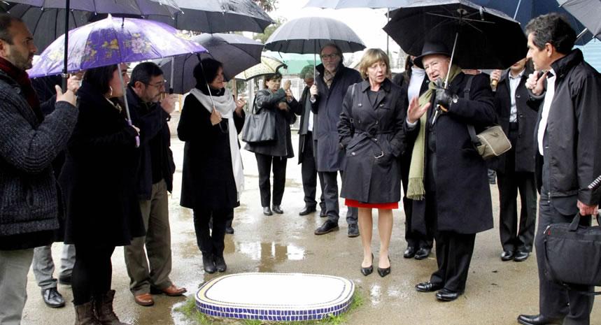 Primera dama alemana visitó Villa Grimaldi