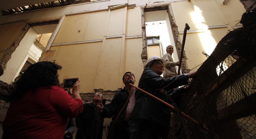 Indignación entre sobrevivientes ante el deterioro del ex cuartel Borgoño de la CNI