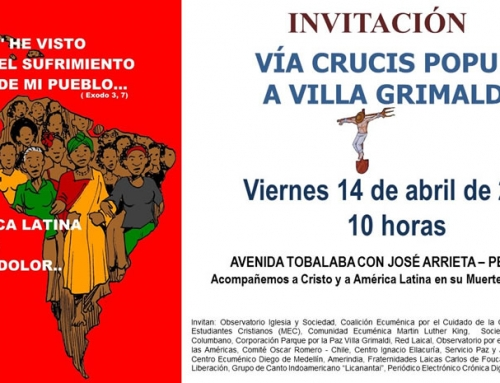 Invitación a Vía Crucis popular