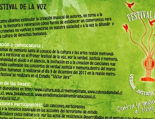 Ya se encuentran disponibles las bases del Primer Festival de la Voz, Verdad, Justicia y Memoria