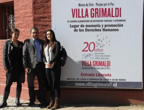 Académico colombiano, Francisco Gutiérrez, valoró trabajo de Villa Grimaldi en educación, memoria y DD.HH