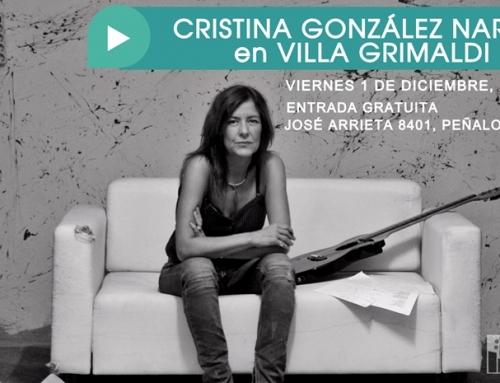 Cristina González (Narea) realizará concierto de música y poesía en Villa Grimaldi