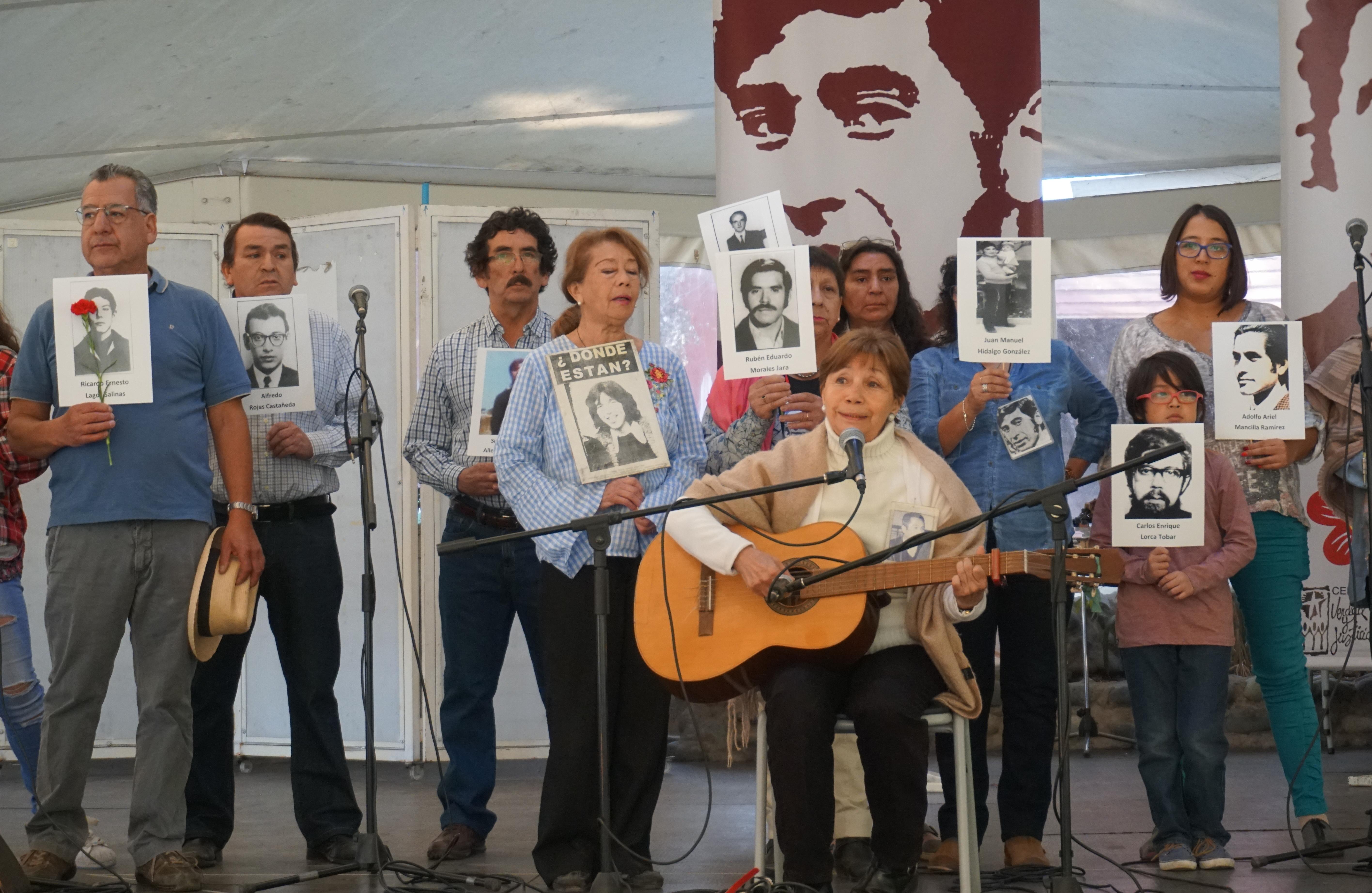 Acto conmemorativo a Juan Hernández, Luis Muñoz y Manuel Tamayo en Villa Grimaldi, evocó su ejemplo frente a las condiciones adversas del presente