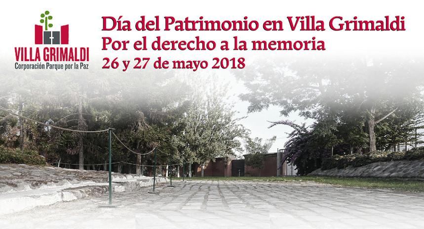 Parque por la Paz Villa Grimaldi será parte de la versión 2018 del Día del Patrimonio