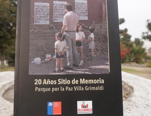 Presentarán en Valparaíso libro sobre los 20 años del sitio de memoria Parque por la Paz Villa Grimaldi