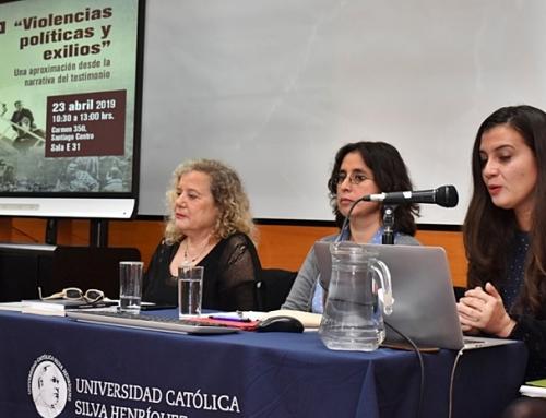 Coordinadora de Educación de Villa Grimaldi expuso en diálogo sobre violencias políticas y exilio.