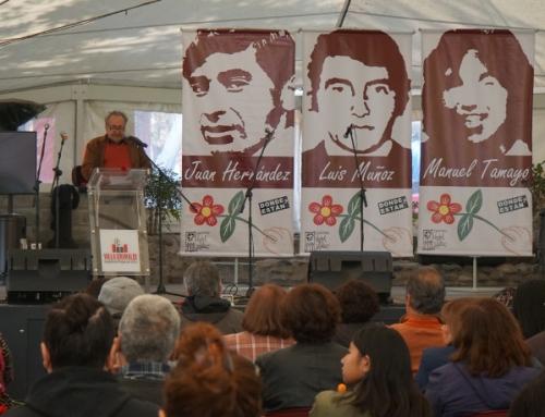 Homenaje a jóvenes socialistas Hernández, Tamayo y Muñoz enalteció principios y generosidad de los militantes