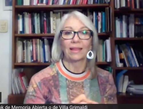 Coordinadora de Archivo Oral de Memoria Abierta de Argentina, Alejandra Oberti, abordó validez de los testimonios orales.