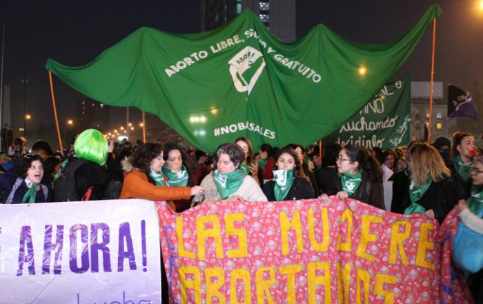 Marcha aborto libre en Santiago de Chile 1